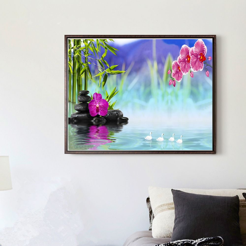 Naiyue 7085 Fantasy Lake Color Print Draw Diamond Drawing