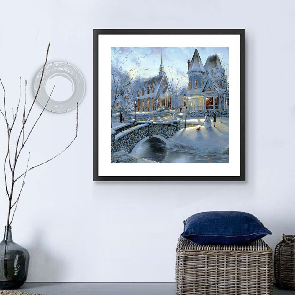 Naiyue 7135 Snow Area Fort Print Draw Diamond Drawing