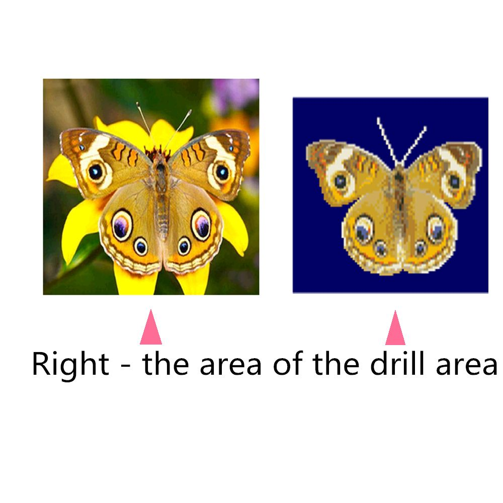 Naiyue 9759 Yellow Butterfly Print Draw Diamond Drawing