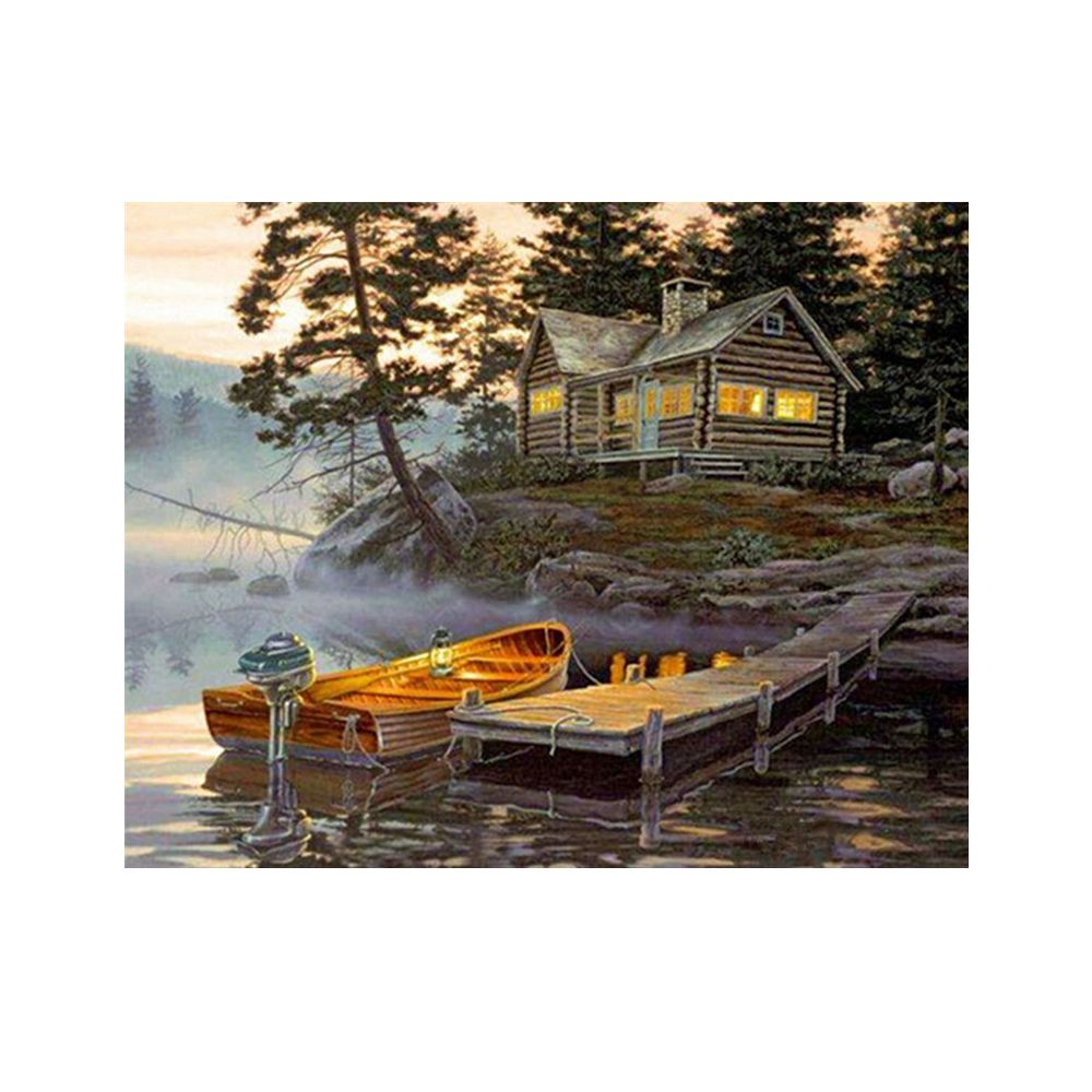 Naiyue 7137 Lake House Print Draw Diamond Drawing