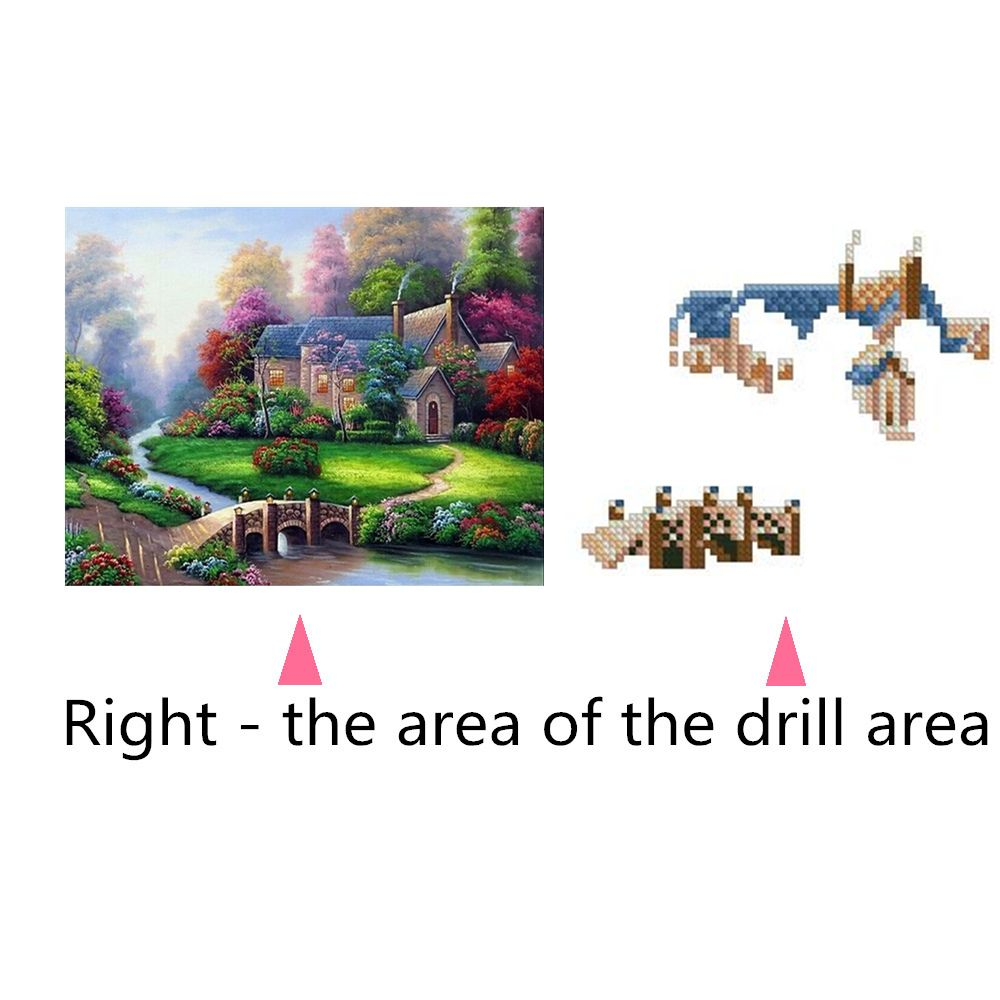 Naiyue 7139 Forest Cabin Print Draw Diamond Drawing