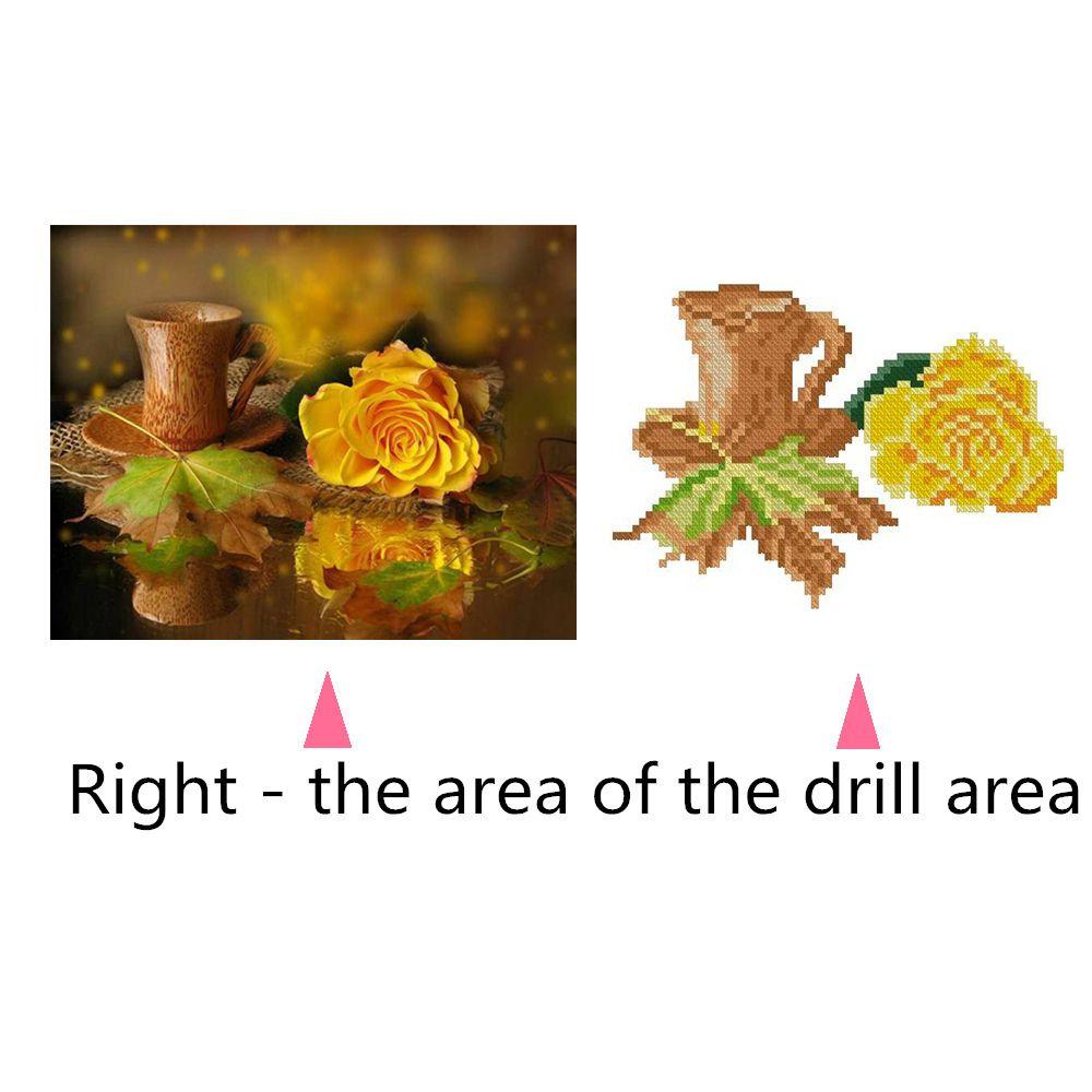 Naiyue 7146 Yellow Roses Print Draw Diamond Drawing