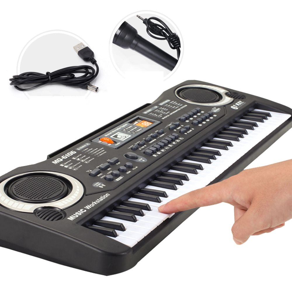 Multi-function 61 Keys Keyboard Electronic Organ with Microphone Music Simulation Of Piano Children Toys