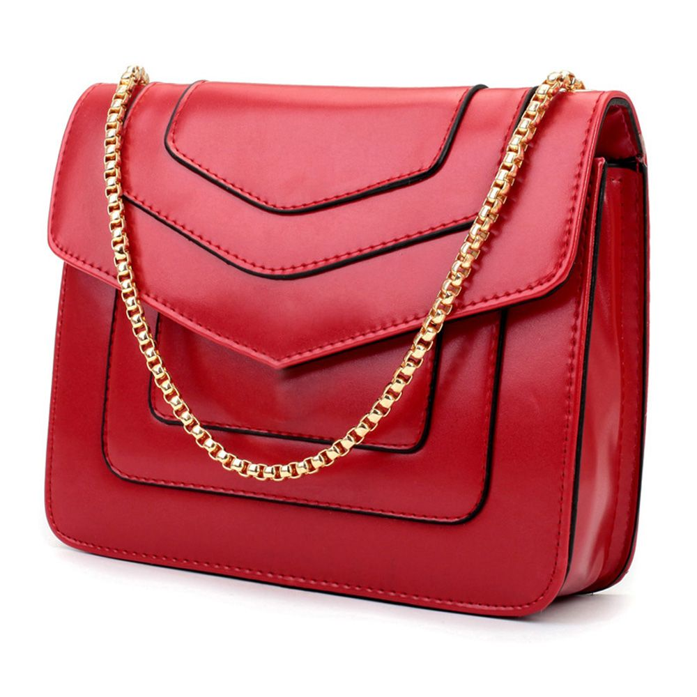 New Splicing Chain Women's Single Shoulder Slanted Slanted Crossbody Bag