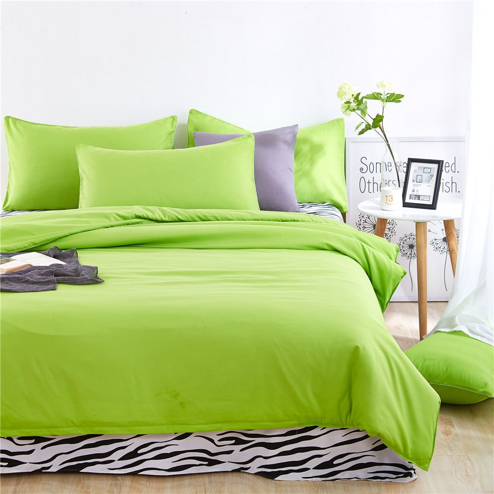 Aloe Vera Cotton Zebra Sheet and Pure Color Quilt for Children'S Three-Piece Bedding Sets