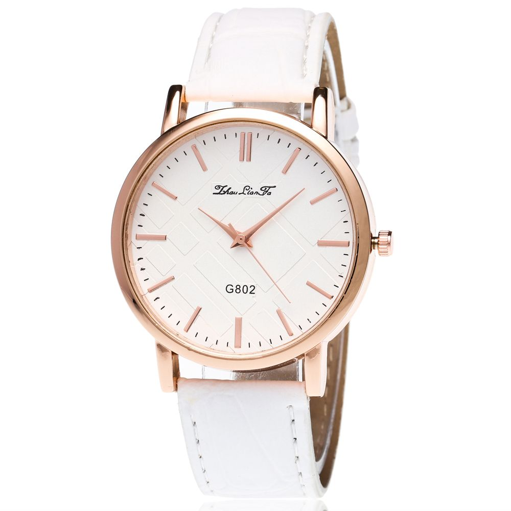 With Gift Box Quartz Watch Business Women'S Bamboo Pattern Strap Simple Temperament Watch