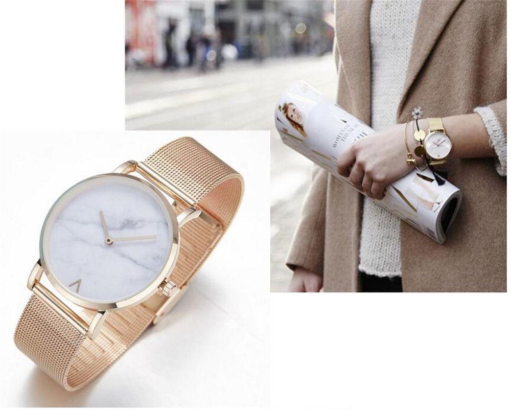 REEBONZ Fashion Women Crystal Stainless Steel Analog Quartz Wrist Watch