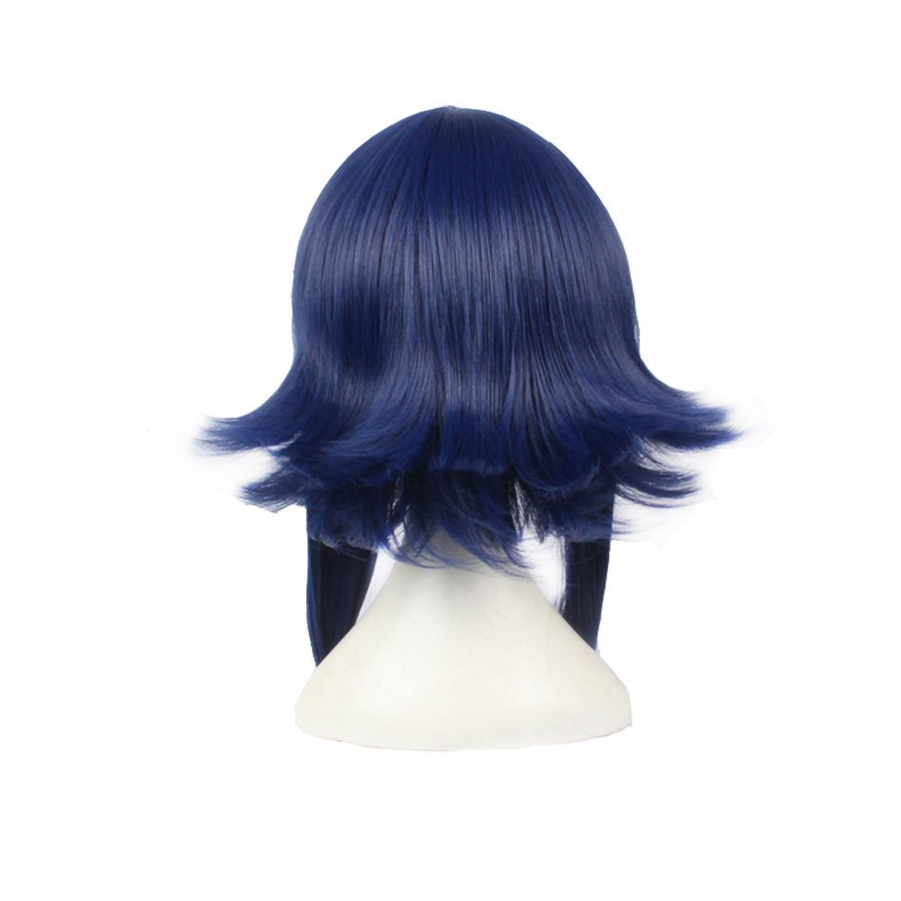 Anime Blue Color Long Straight Women Cosplay Synthetic Hair Party Wig