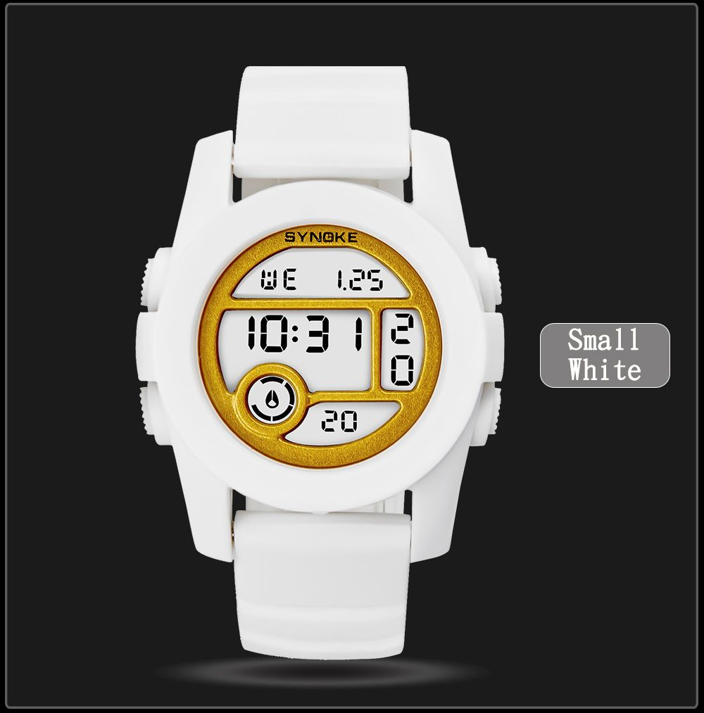 SYNOKE 67286 Silicone Night Light Swimming Waterproof Student Couple Watch
