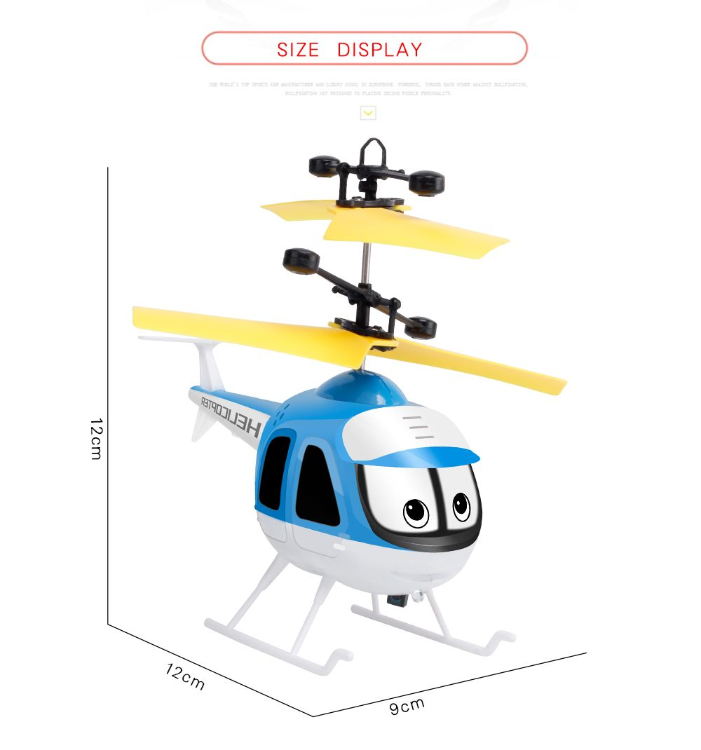 Upgrade Mini RC Helicopter Induction Suspension Remote Controll Plane Toys