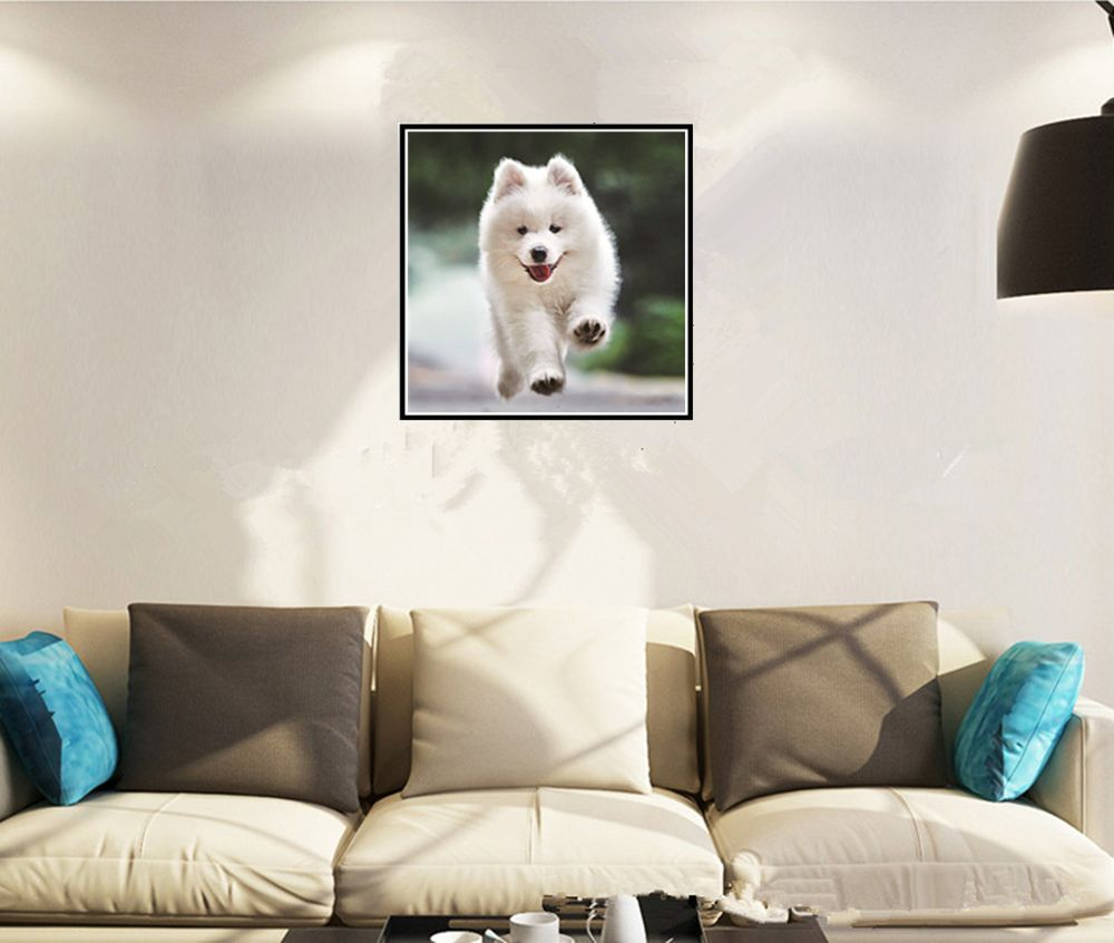 Naiyue S048 Small White Dog Print Draw Diamond Drawing
