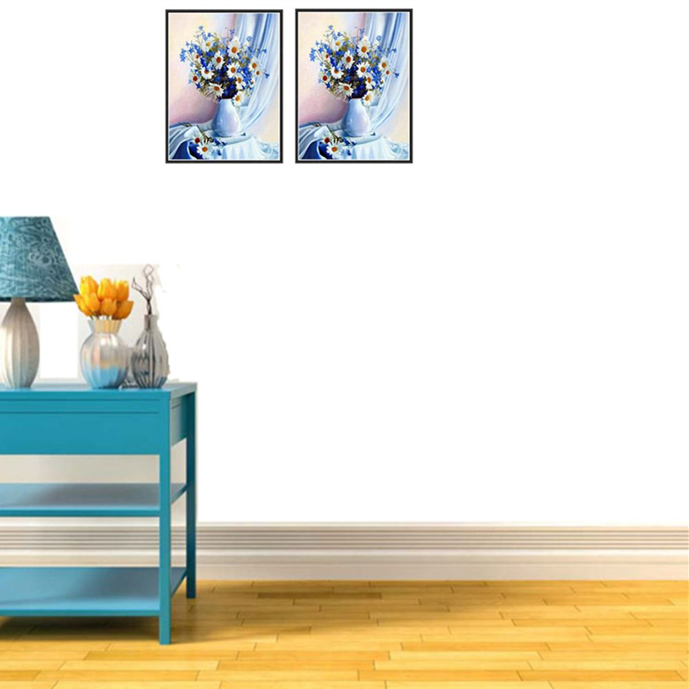 Naiyue J - 17 Blue Chrysanthemum Print Draw Diamond Drawing