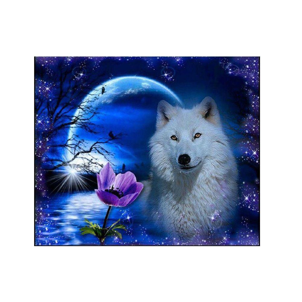 Naiyue 9466 Night Wolf Print Draw Diamond Drawing