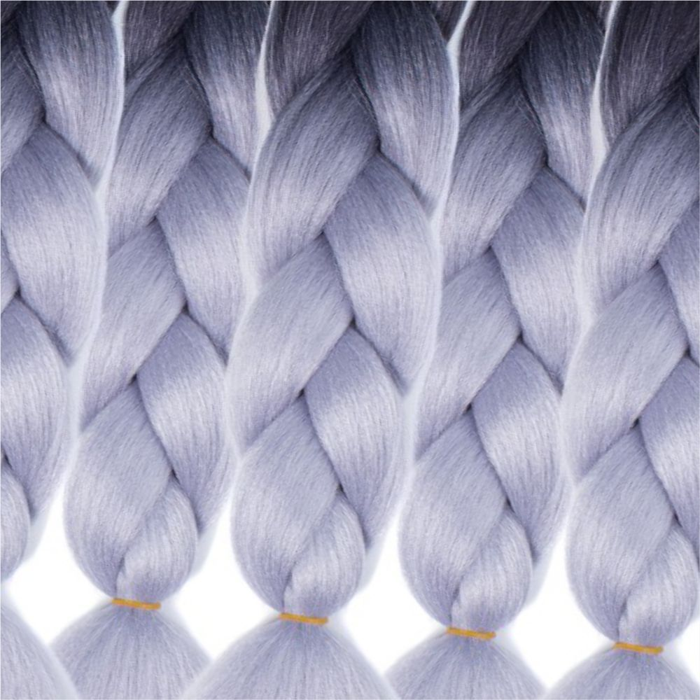 5PCS 2 Tone Ombre Jumbo Box Braid Hair Extension 24 inch Crochet Braids High Temperature Kanekalon Synthetic Fiber Twist
