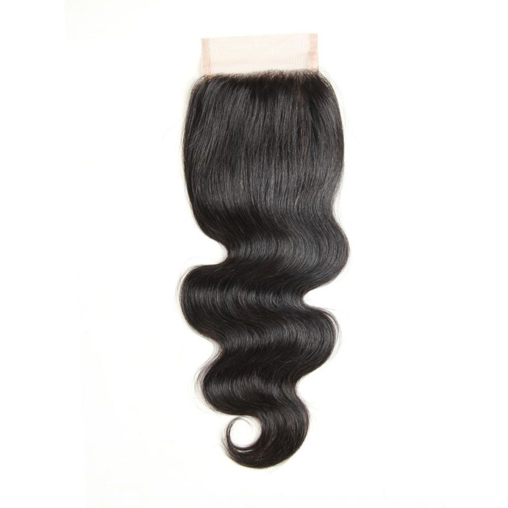 Peruvian Unpreocessed Virgin Human Hair Swiss Lace Closure 8 inch - 20 inch