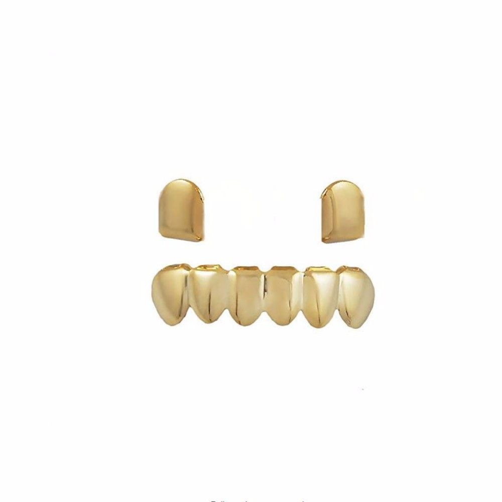 Hip Hop 18K Gold Plated Teeth Grillz