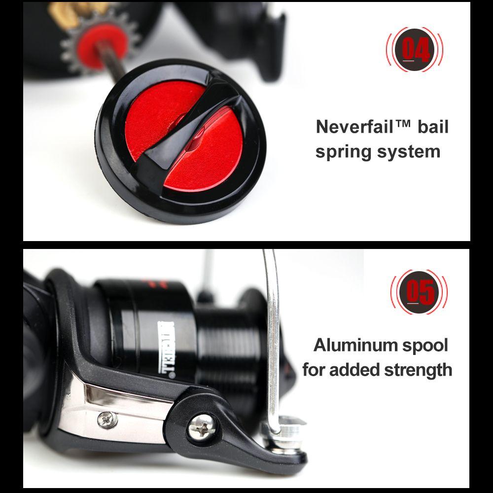 Mitchell AVOCET RZ2000 Top Quality 4+1 Ball Bearing 18lb Carbon Fiber Max Drag Gear Ratio 5.4:1 Spinning Fishing Reel
