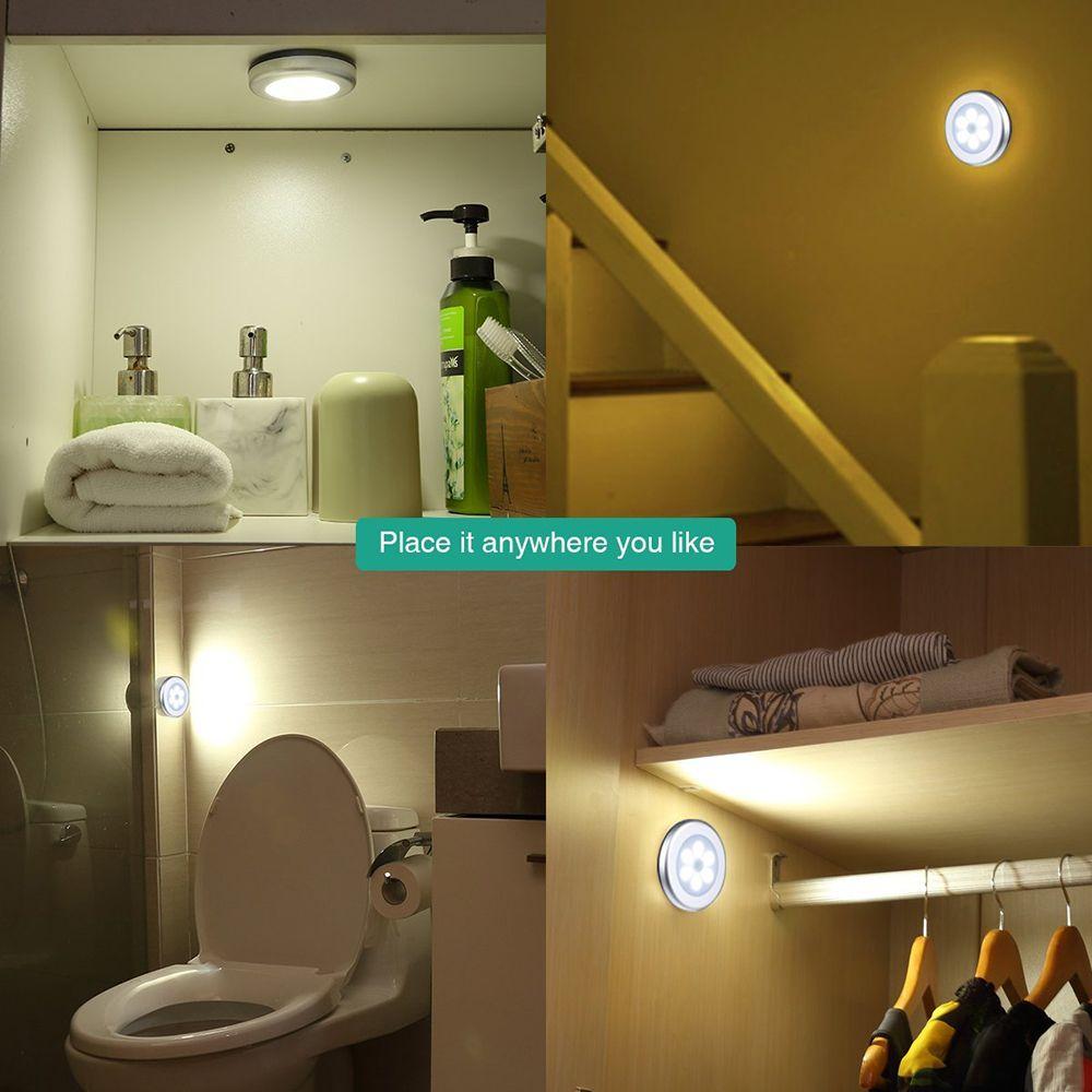 URPOWER Motion Sensor Light, Motion-sensing Battery Powered LED Stick-Anywhere Nightlight,Wall Light for Entrance,Hallwa