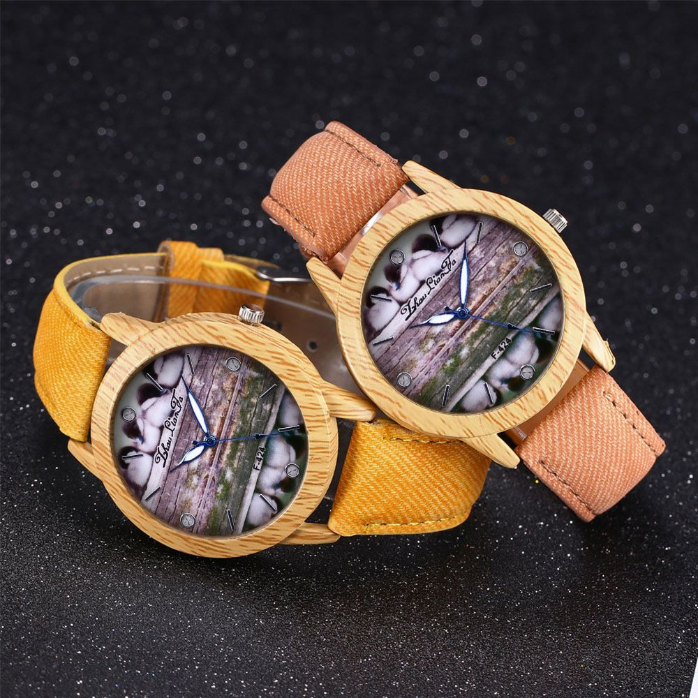 ZhouLianFa New Trend of Casual Denim Canvas Duckling Watch with Gift Box
