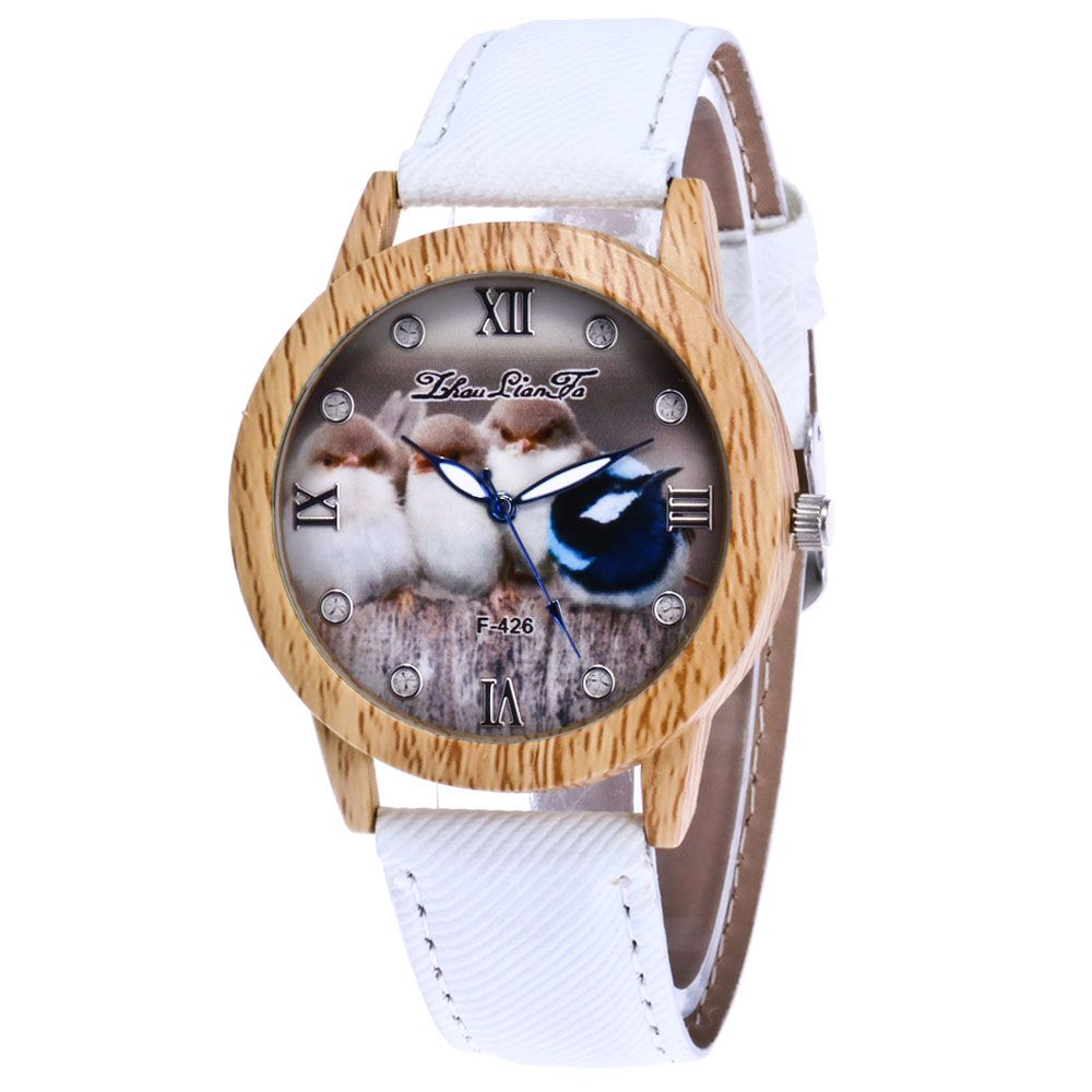 ZhouLianFa New Trend of Casual Cowboy Canvas Chick Figure Watch with Gift Box