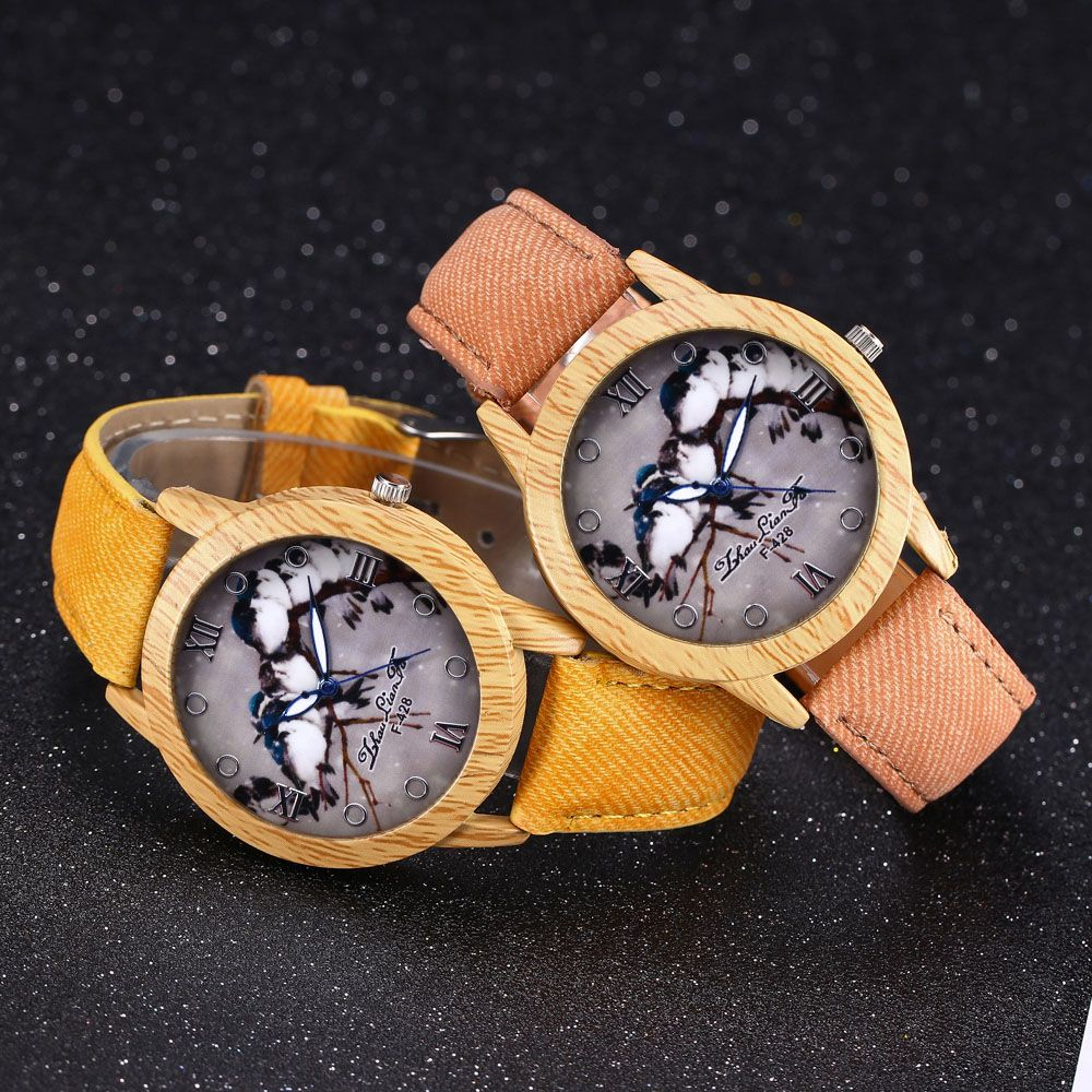 ZhouLianFa New Trend of Casual Cowboy Canvas Bird Figure Watch with Gift Box