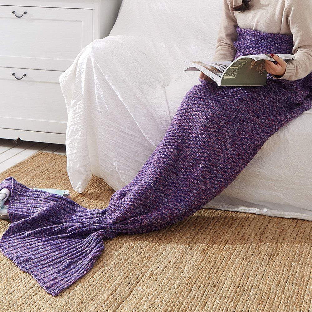 New Children Adult Contracted Mermaid Tail Blanket