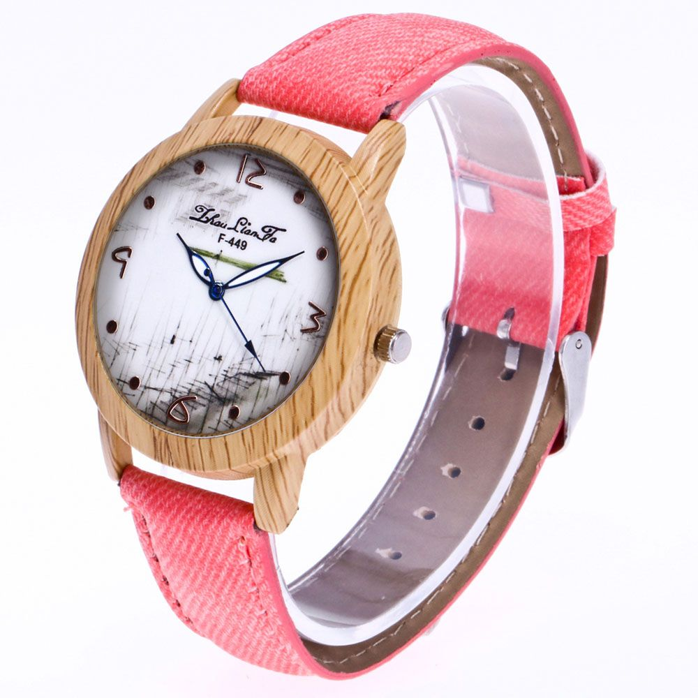 ZhouLianFa The New Trend of Casual Denim Canvas Watch with Gift Box