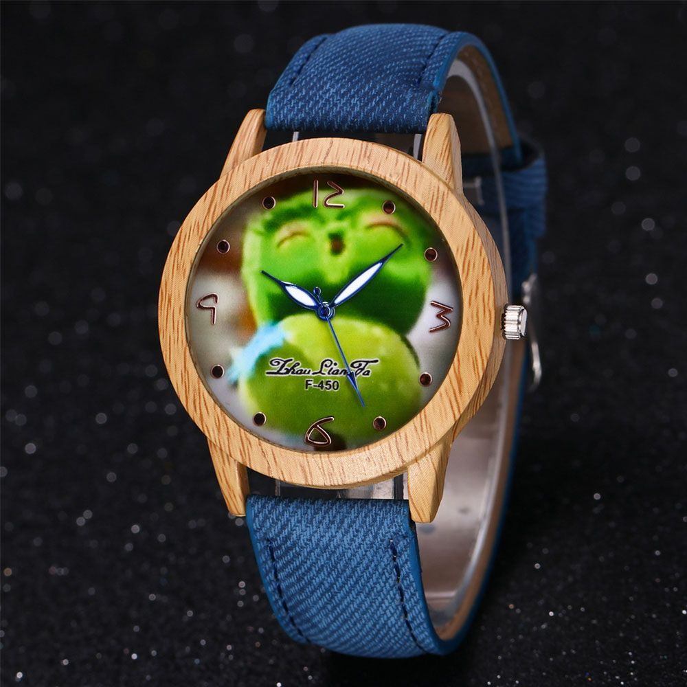 ZhouLianFa New Trend of Casual Cowboy Canvas Angry Birds Quartz Watch with Gift Box