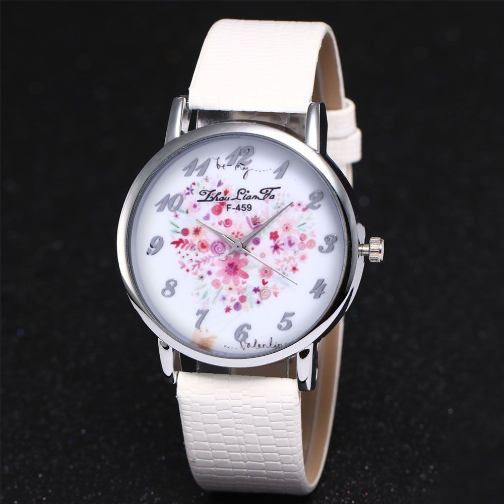 ZhouLianFa A Floral Motif of Women'S Watch Crocodile Pattern Strap with Gift Box