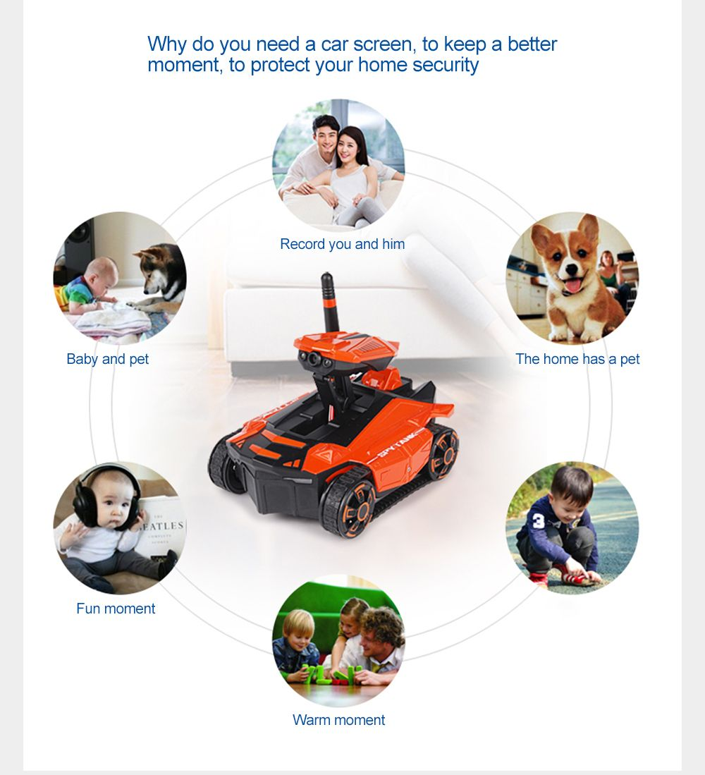 Attop 211 WiFi Real-Time Transmission of High Definition Aerial Video Car Mini Tank Car Intelligent Remote Control Car T