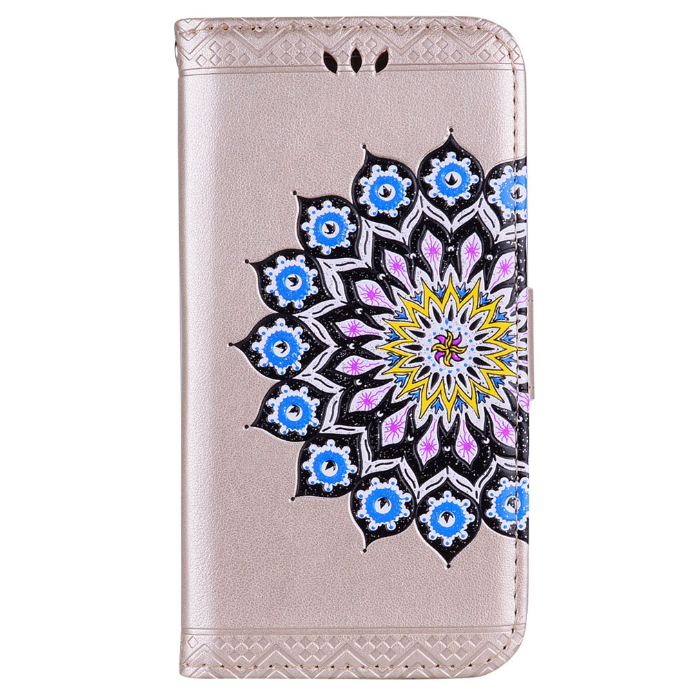For Samsung Galaxy J3 2017 European Version of the Flash Powder Mandala Cover Covers the Shell