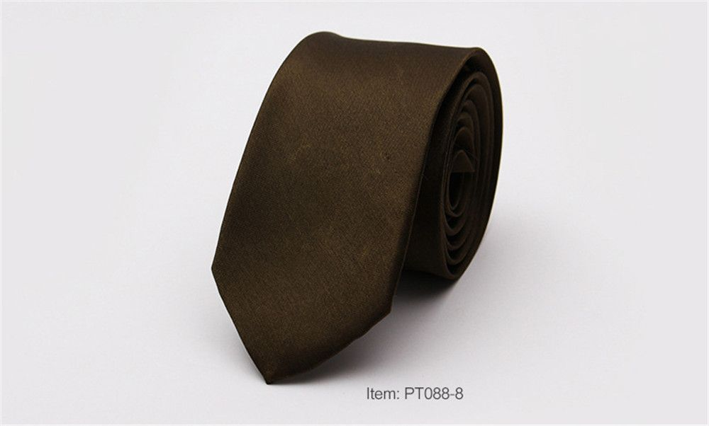 Narrow Version Solid Color Korean Fashion Tie