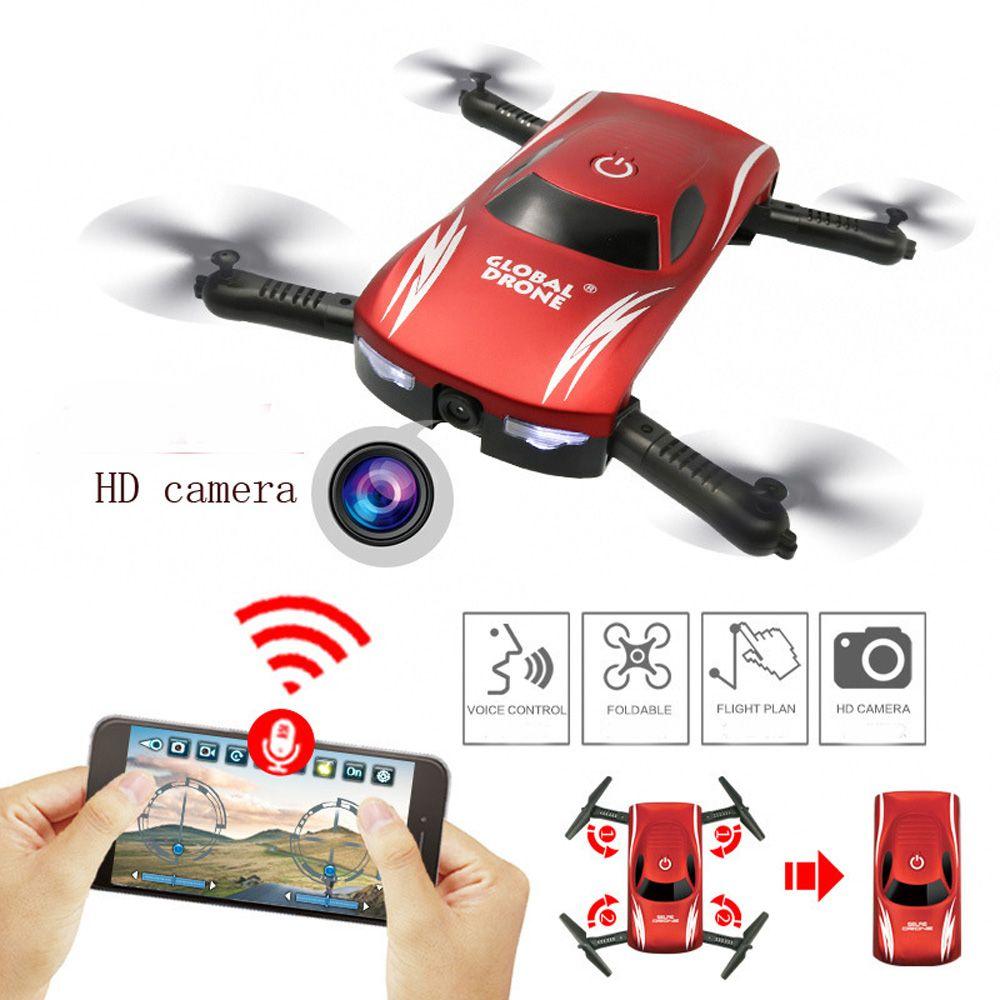 X185 Set High RC Plane WIFI Folding HD Aerial Mini Drone Air Car Children Toy Gift