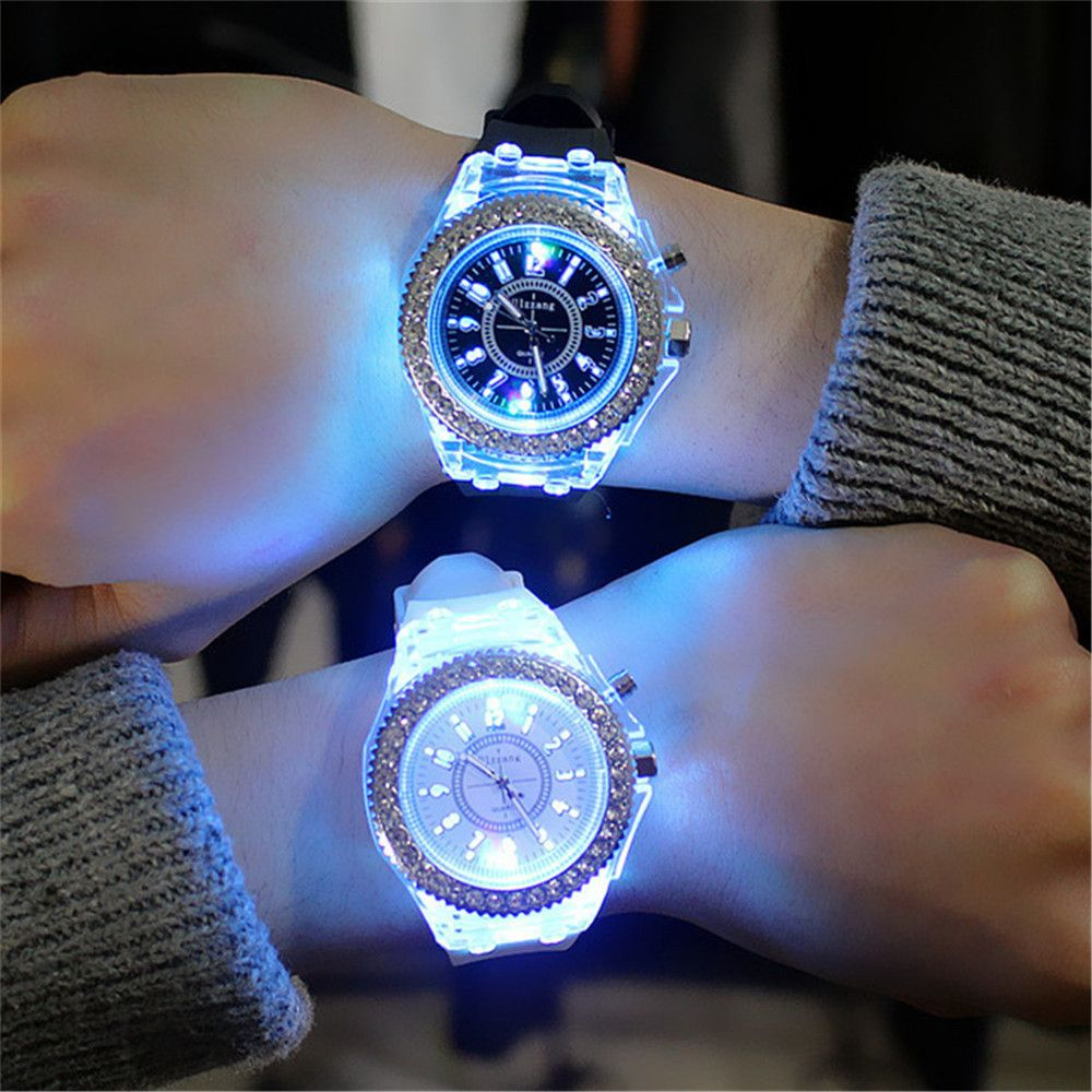 Geneva Led Light Flash Luminous Watch Personality Trends Students Lovers WristWatch