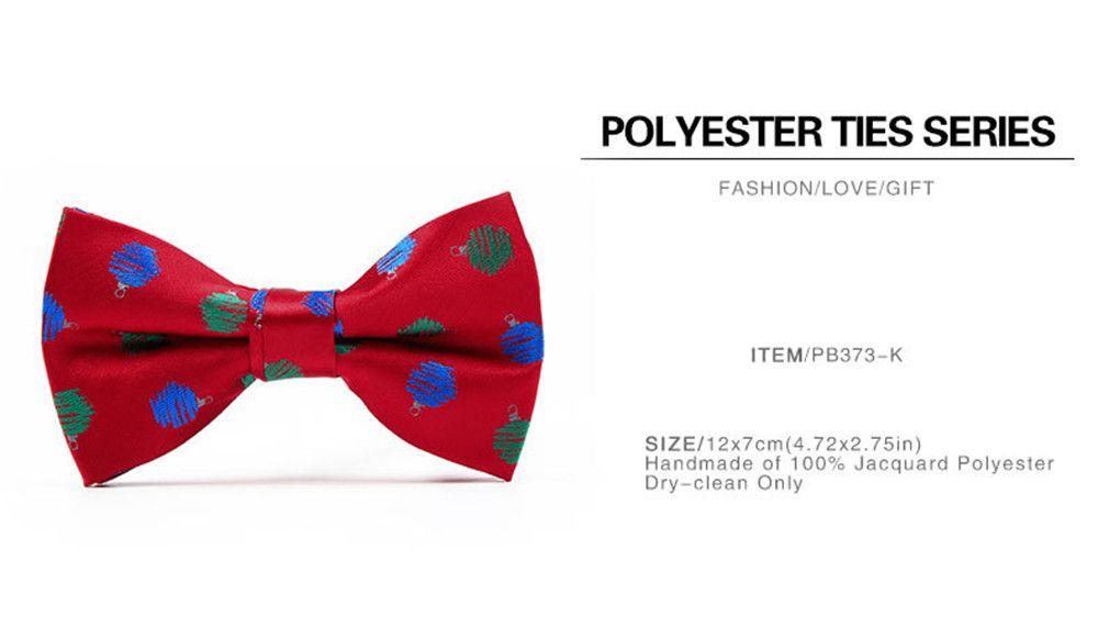 Christmas Man Polyester Jacquard Bow