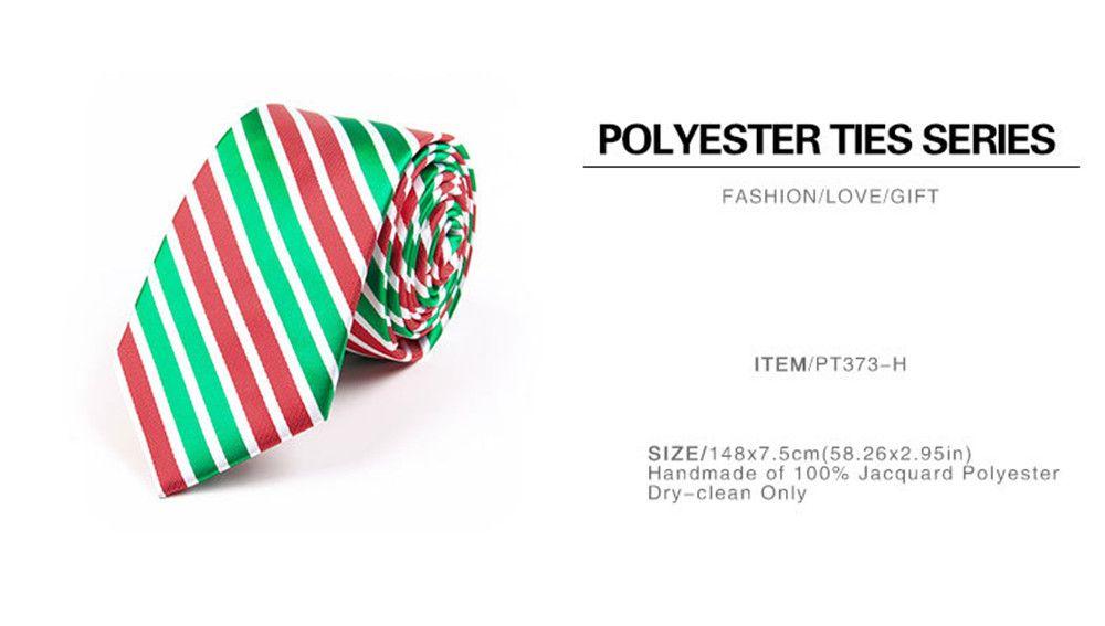 75CM Christmas Theme Polyester Jacquard Tie