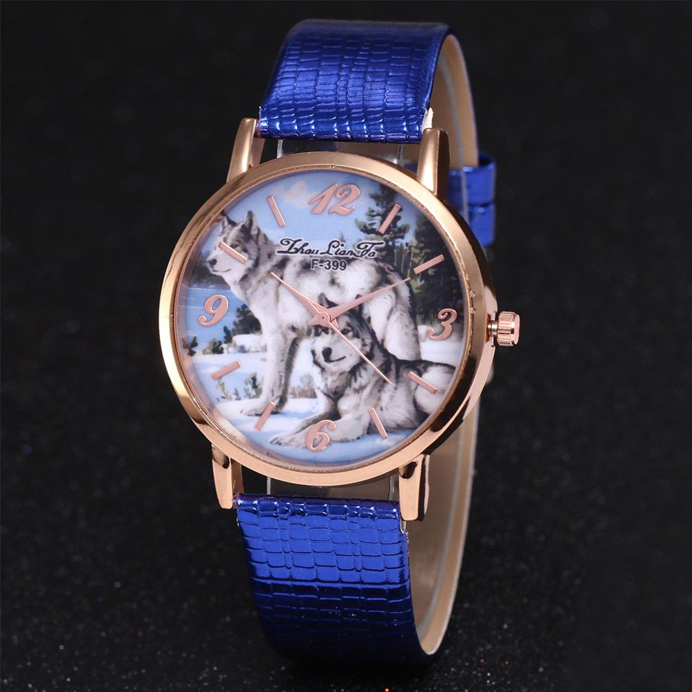 ZhouLianFa New Luxury Ladies Brand Crocodile Pattern Leisure Wolf Quartz Watch