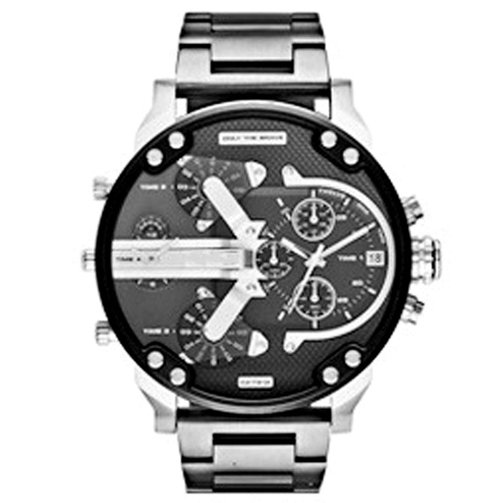Brand Luxury Wristwatch Military Clock Sport Big Dial Stainless Steel Business Metal Watch Bracelets Men Relogio Masculi