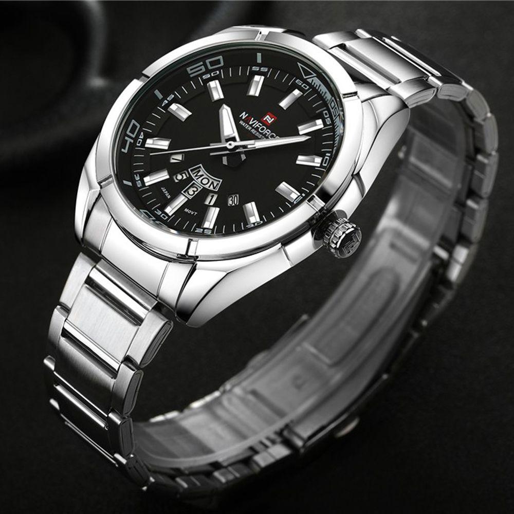 Brand Men Watches Luxury Sport Quartz 30M Waterproof Watches Men'S Stainless Steel Band Auto Date Wristwatches Relojes