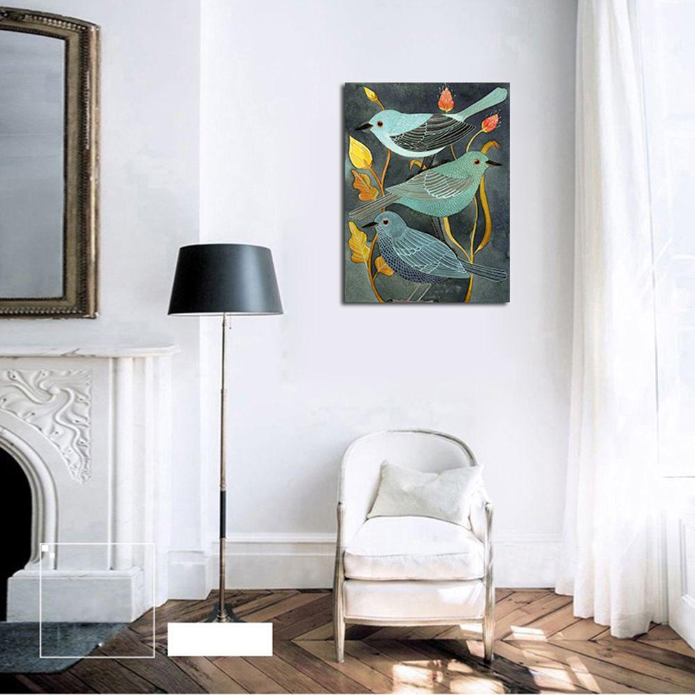 2017 QiaoJiaHuaYuan No Frame Canvas Living Room Decorative Painting ...