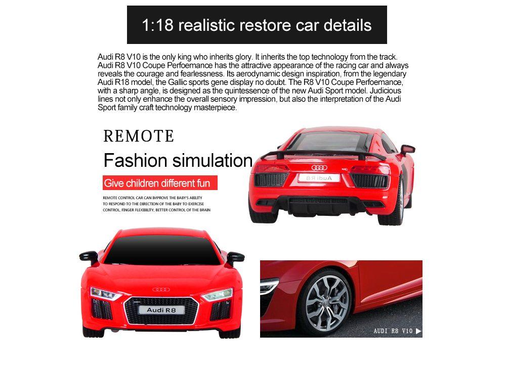 Attop 1815 Audi R8 1:18 Authorizes Remote Control Car Simulation Drifting Racing Car Racing Model Toy Car