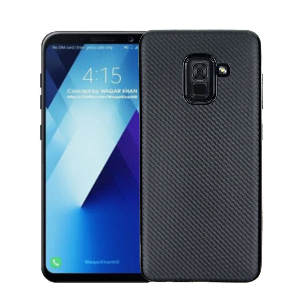 Cover Case for Samsung Galaxy A7 2018 Soft Carbon Fiber Luxury TPU