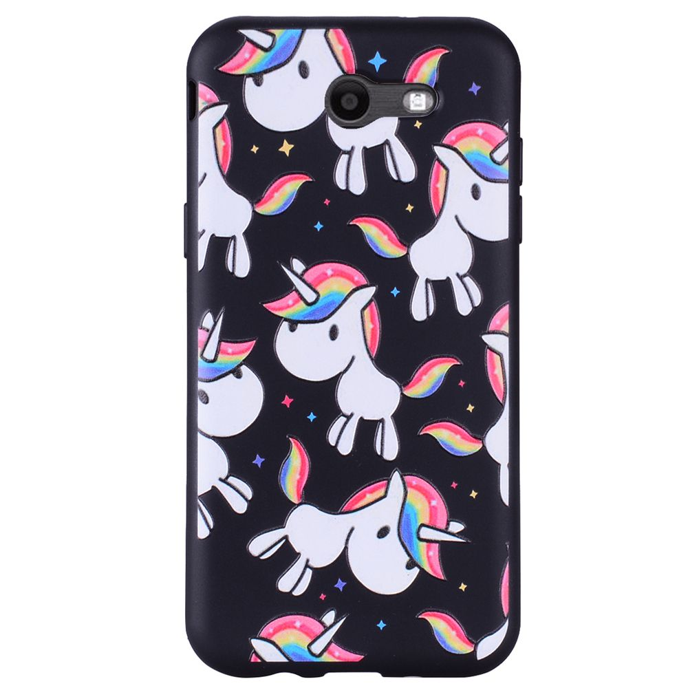 Case For Samsung Galaxy J3 2017 J320 U.S. Version of The Rainbow Unicorn TPU Phone Case