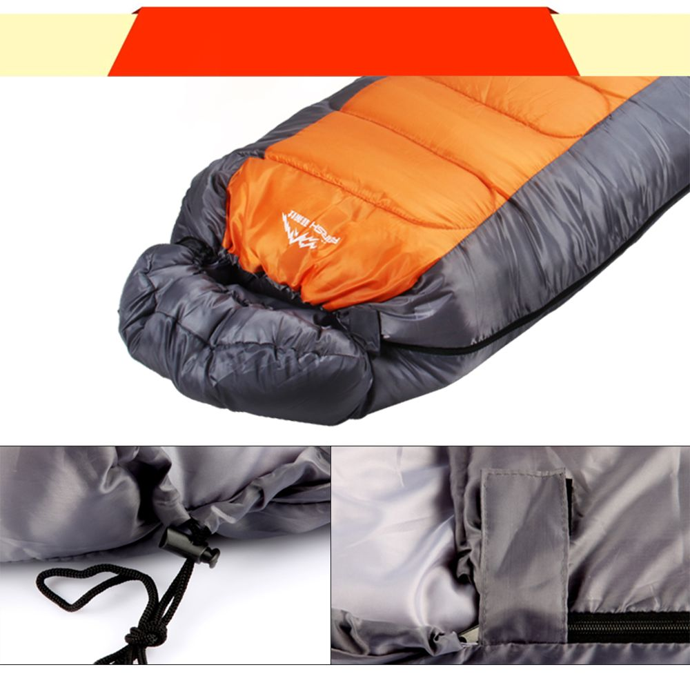 FERISH Outdoor Autumn and Winter Envelope Thermal Insulation Sleeping Bag Adult can be Stitched Sleeping Bag