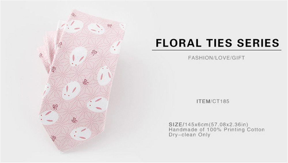 Narrow Version of Men'S Casual Cotton Tie 6CM