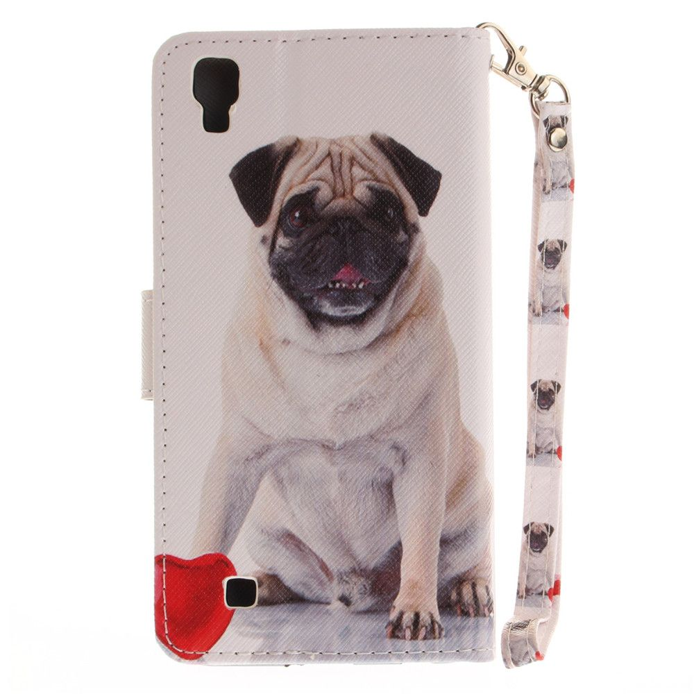 Cover Case for LG Xpower Pug PU+TPU Leather with Stand and Card Slots Magnetic Closure