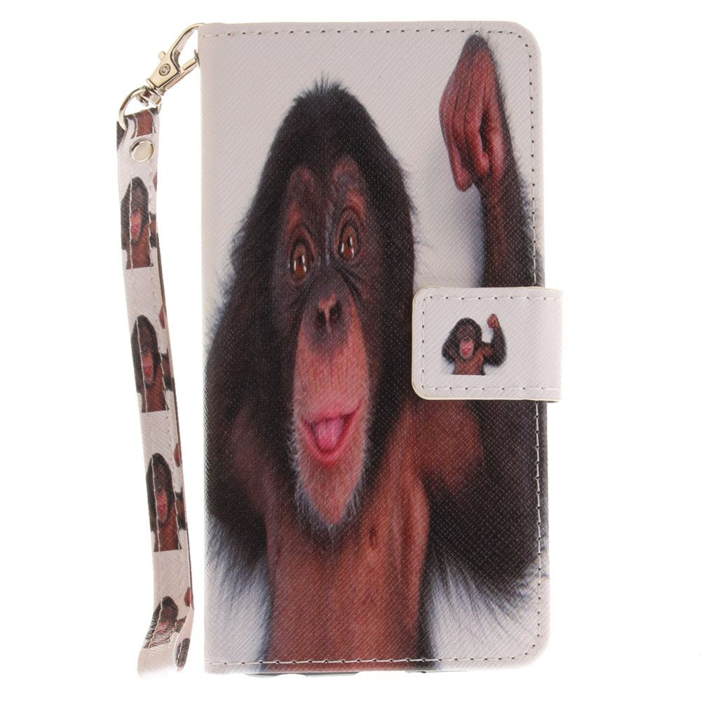 Cover Case for LG Xpower Monkey PU+TPU Leather with Stand and Card Slots Magnetic Closure