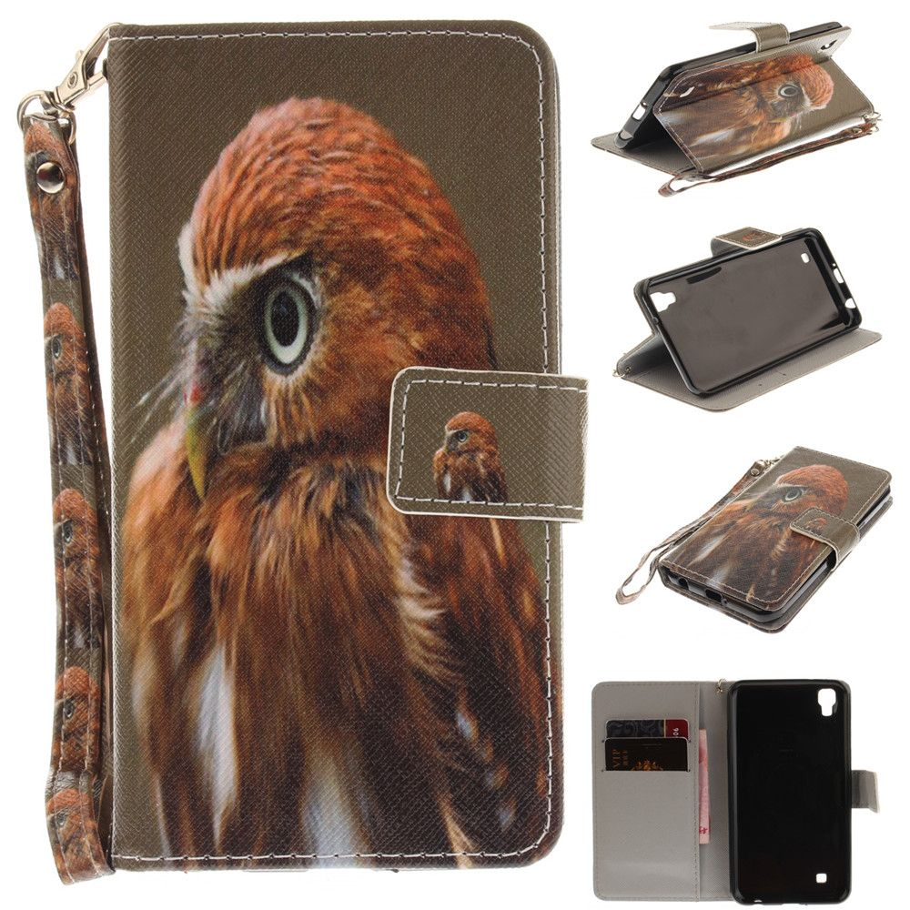 Cover Case for LG Xpower Young Eagles PU+TPU Leather with Stand and Card Slots Magnetic Closure