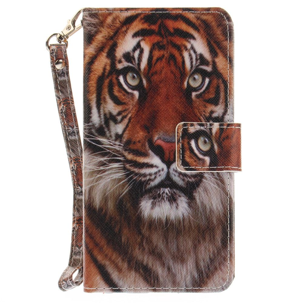 Cover Case for LG Xpower Manchurian Tiger PU+TPU Leather with Stand and Card Slots Magnetic Closure