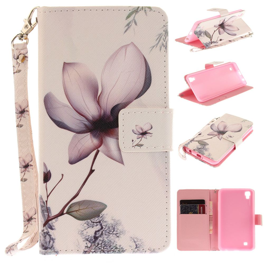 Cover Case for LG Xpower Magnolia PU+TPU Leather with Stand and Card Slots Magnetic Closure